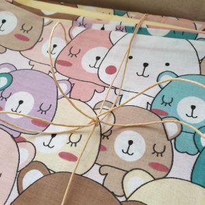 Калъфка за бебешка възглавница – Мечоци Калъфки за възглавници 100% памук