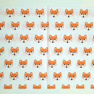 Калъфка за бебешка възглавница – Лисици Калъфки за възглавници 100% памук