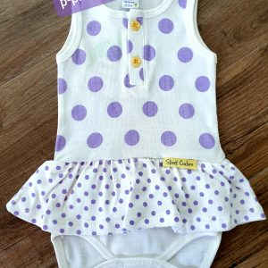 Бебешко боди рокля Лилави Точки 56-80 код: 10337 Бебешки дрехи [tag]