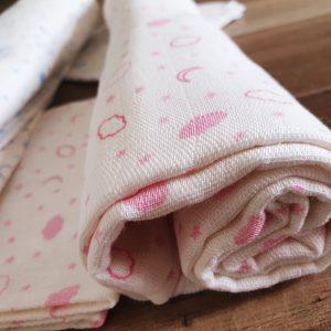Комплект пелена/одеяло и кърпа от муселин в розово код: 10018 Други [tag]