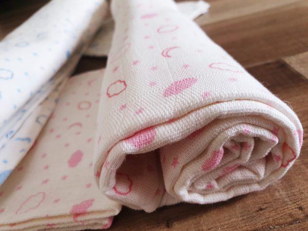 Комплект пелена/одеяло и кърпа от муселин в розово код: 10018 Хавлии, Пелени, Аксесоари, Други [tag]