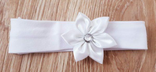 Лента за глава с бяло цвете код: 33050 Хавлии, Пелени, Аксесоари, Други лента