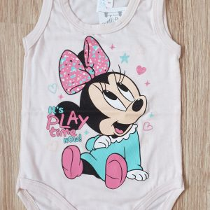 Боди потник момиче в розово 68-80 код: 36800 Бебешки дрехи бебешко боди