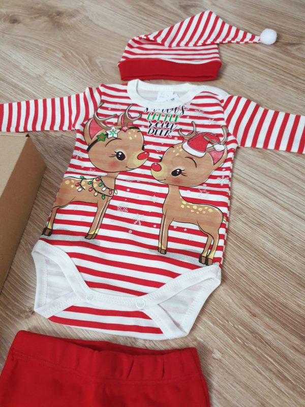Комплект 3 части Еленчета райе (размер 56) код: 49950 Бебешки дрехи бебешки дрешки